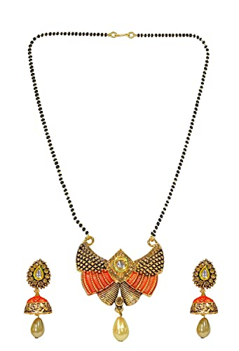 0ab38f5b7 Buy BOXO Long Chain Gold Plated Mangalsutra For Wife As Wedding Anniversary  Gift, Mangalsutra with Earings For Women, Pack of 1 Online at Low Prices in  ...