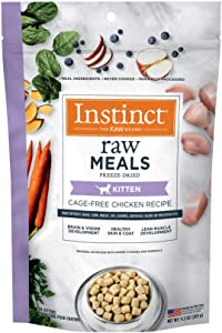 Instinct Freeze Dried Raw Meals for Kittens Grain Free Cage Free Chicken Recipe Cat Food by Nature's Variety, 9.5 oz. Bag