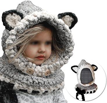 Vandot Invierno Cálido Coif Hood Bufanda Sombreros Hat Earflap Fox ...