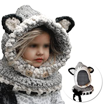 Vandot Gorras Fox Sombreros Capucha Beanie Niños Niñas Bebés de ...