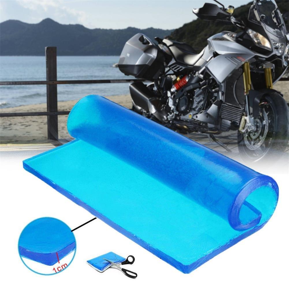 Alfombrilla de gel para asiento de motocicleta, absorció n de golpes, cojí n suave, color azul, alfombrillas có modas, accesorios 25 x 25 x 1/2 cm, para motocicleta, bricolaje, turismo, etc. absorción de golpes cojín suave Comaie®