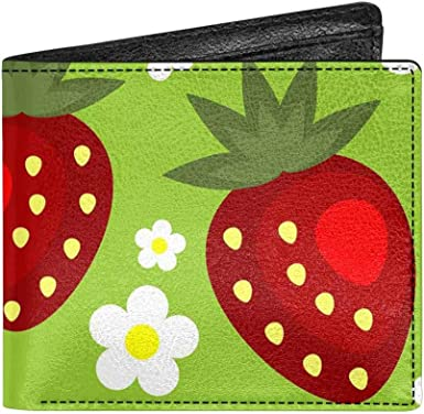 Faux Leather Wallet Coin Purse Ladies Unisex Bi-Fold Pouch Handmade Floral