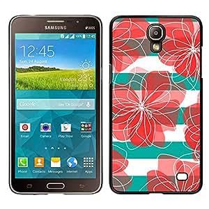 Samsung Galaxy Mega 2 / SM-G750F / G7508 Único Patrón Plástico Duro Fundas Cover Cubre Hard Case Cover - Picnic Teal White Stripes