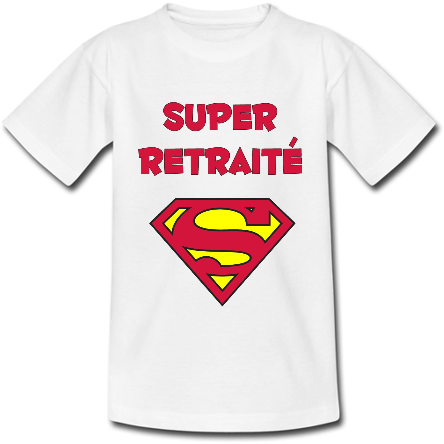 YONACREA T-Shirt Col V Adulte Superman Rose Super Retrait/ée
