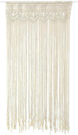 LeKing Tapicería tejida a mano, cortina de cuerda de algodón, cortina de boda, cortina decorativa,macrame cortinas(bolsa de plástico): Amazon.es: Hogar