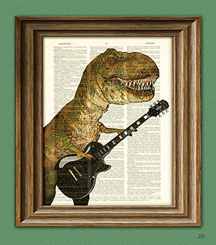 T-Rex with Guitar