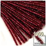 The Crafts Outlet Chenille Sparkly Stems, Pipe Cleaner, 20-in (50-cm), 1000-pc, Red