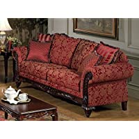 Serta Upholstery 7650FRS 7650FRS03 Traditional Style Sofa in Momentum, Magenta