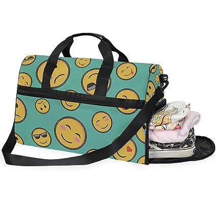 Amazon.com: AHOMY Emoji Smiley - Bolsa de gimnasio con ...