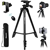 "Endurax Camera Tripod 60"" for Canon Nikon Phone DSLR Tripods Stand with Universal Phone Mount & Remote Shutter Max Load 6.6 l"