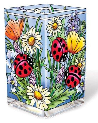 Amazon Amia 6 Inch Glass Vasevotive Hand Painted Ladybug