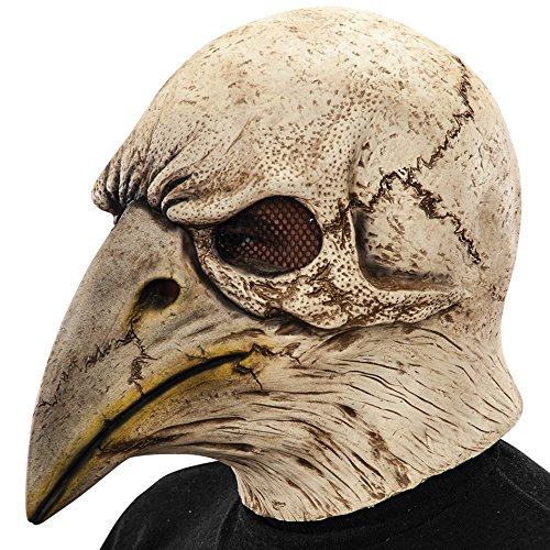 - Carnival Toys 1431 - Mask Skeleton Latex Eagle with Exhaust, Ivory