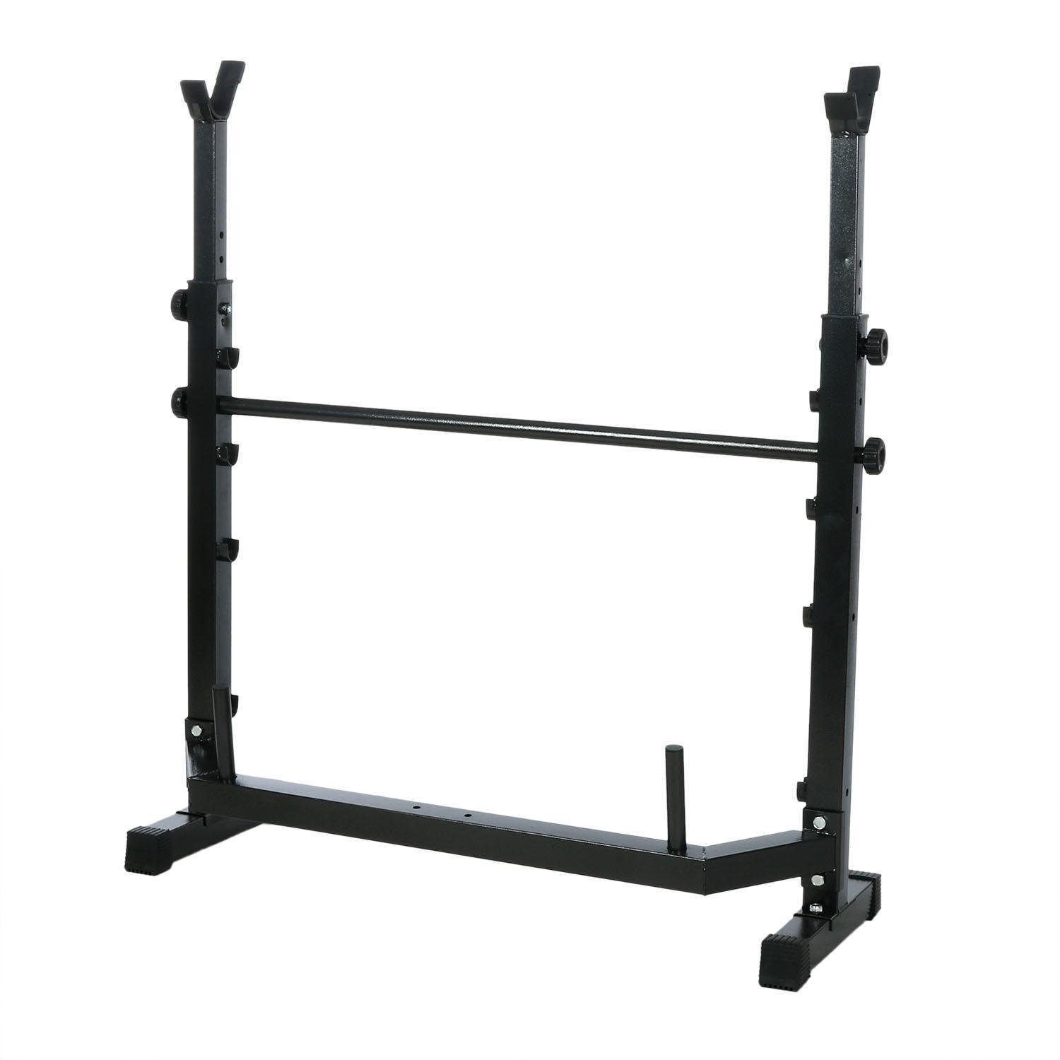 Olympic Wider Weight Bench Set for Home Gym Workout Power Training Exercising, Adjustable Bench Seat with Barbell Rack by Evokem (Image #5)