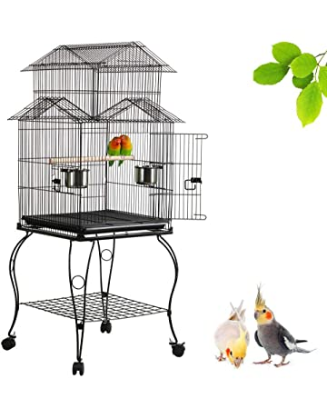 Pet Supplies Smart Bird Canaries Cage Finches Feeder Seats Plastic Swing Hook Bird Pet
