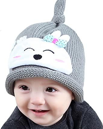 40e8d278fa1 Amazon.com  ZEHAT New Knitting Wool Crochet Hat Baby Girls Boys Caps Winter  Warm Headwrap accessories  Clothing