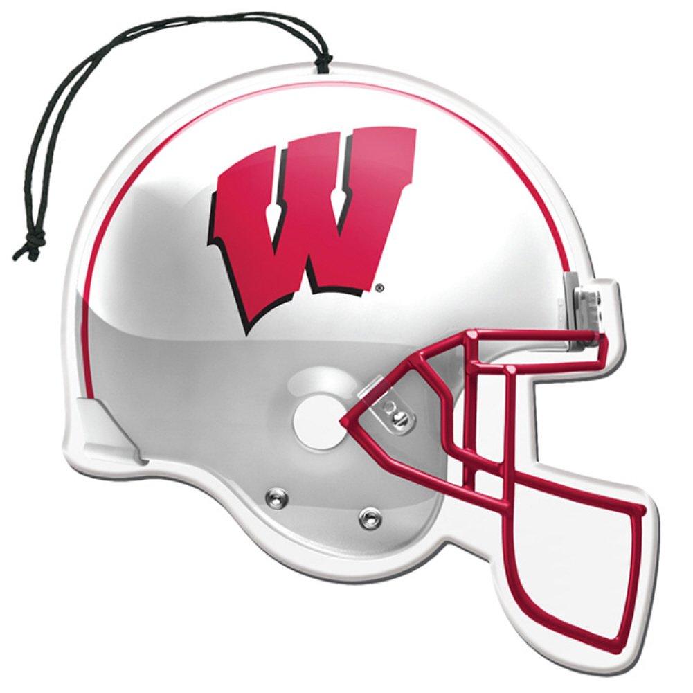 Licensed NCAA Wisconsin Badgers Vanilla Scent Helmet Shape Air Freshener 3 Pac...