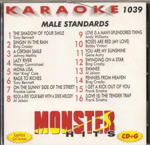 Monster Hits Vol. 1039 Karaoke CDG MALE STANDARDS Sinatra Crosby Bennett Mathis ()