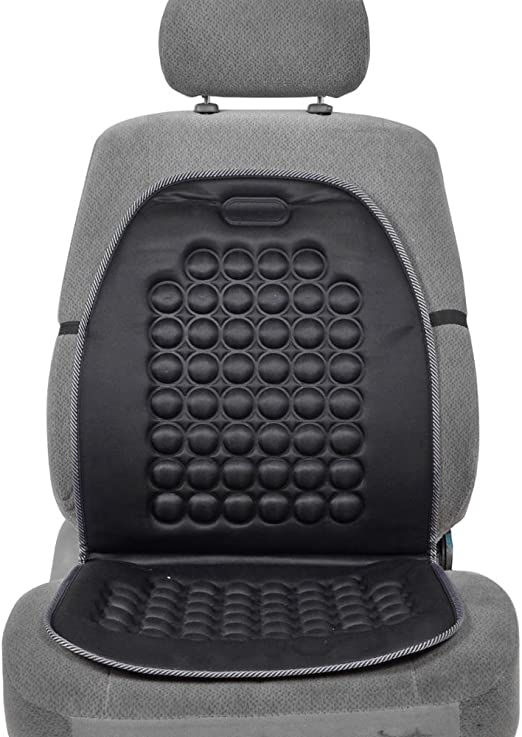 Zone Tech Magnetic Bubble Ultra Comfort Massaging Car Seat Cushion Set of 2 Classic Black Premium Quality Massaging Padded Car Office Home Seat Cushion for Stress Free all Day!