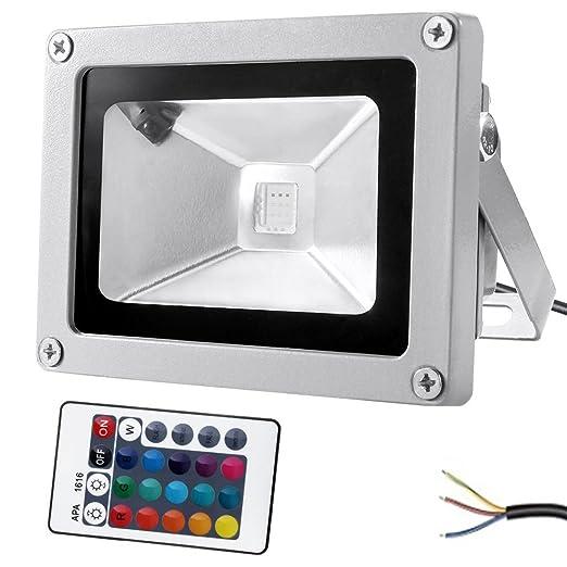 27 opinioni per GUO Luce di sicurezza 10W RGB LED, Dimmable impermeabile 16 che modifica il
