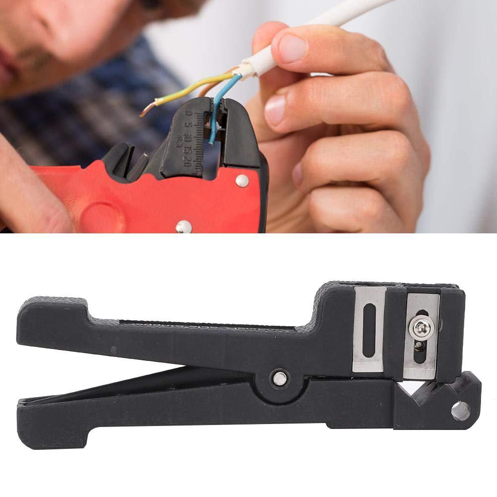 Kabelschneider Glasfaser-Abisolierzangen Horizontales Koaxial-Kabelmesser Handwerkzeug Elektriker Zubeh/ör 45-165 Abisolierzange