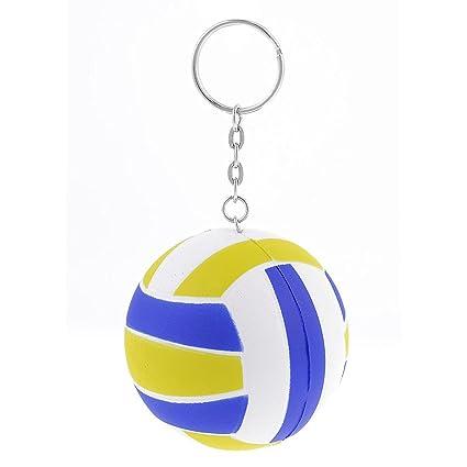 Amazon.com: Uxcell Amarillo Blanco Azul 6 cm Dia Voleibol ...