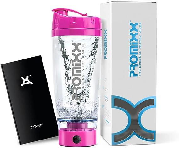 PROMiXX - El mezclador de vórtice original | Botella de alta potencia para mezclar proteína | Diseño de alto par de torsión alimentado por baterías | ...