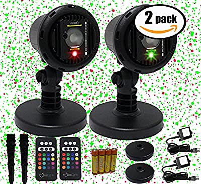 2 Pack Bundle | Christmas Laser Light Package Red and Green by Blisslights