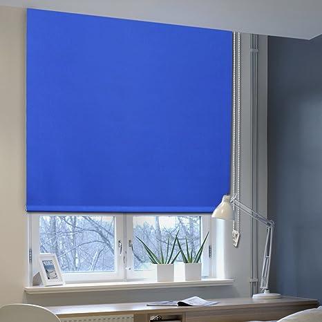 Tende Avvolgibili Oscuranti.Auralum 140 X 175 Cm Tenda A Rullo Oscurante Tende Avvolgibili Oscuranti Isolanti Termiche E Solari Per Finestre Blu
