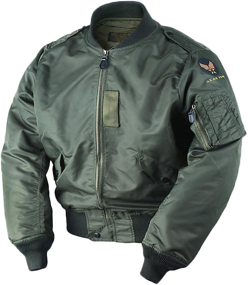 Easy 1940s Men's Fashion Guide VTGDR WW2 USAF L2B Bomber Flight Jacket Nylon Mens L-2B Military Outwear $109.99 AT vintagedancer.com