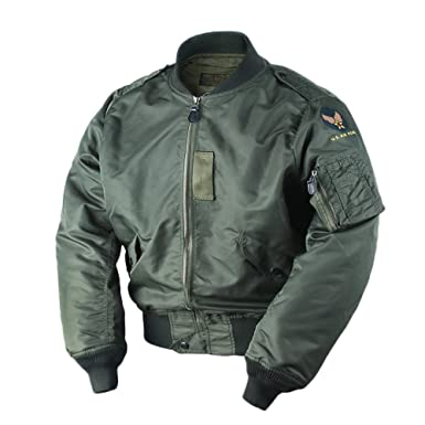 VTGDR WW2 USAF L2B Bomber Flight Jacket Nylon Men s L-2B Military ... 078743ac5a9