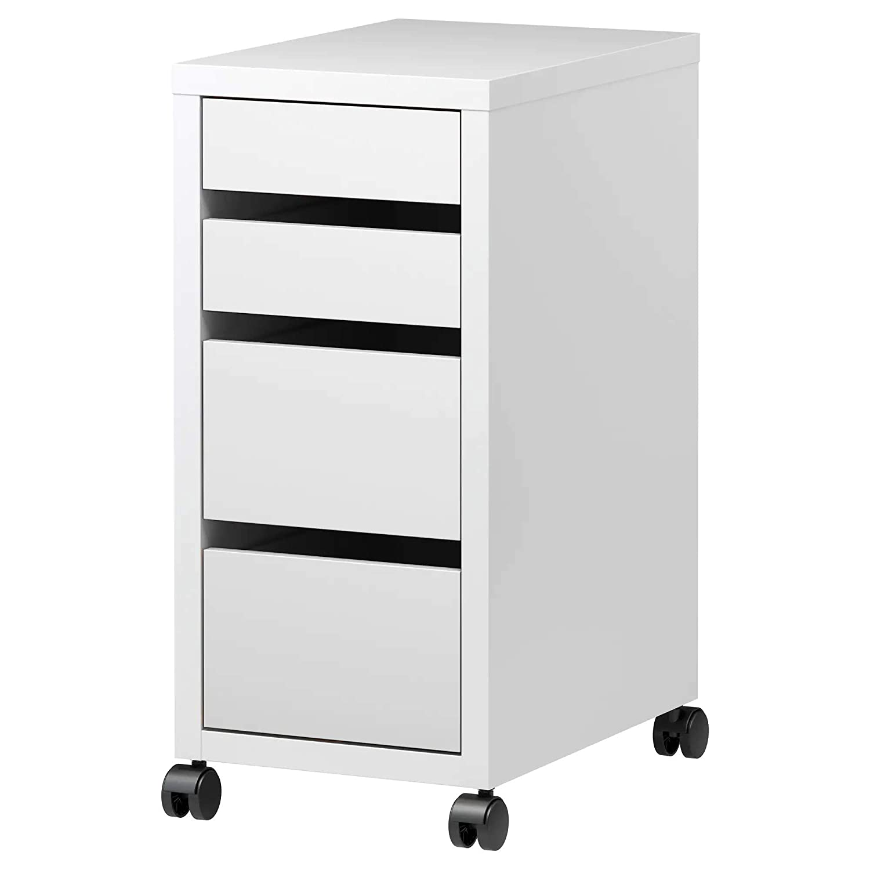 IKEA micke cajonera oficina con ruedas, Color blanco 35 x 75 ...