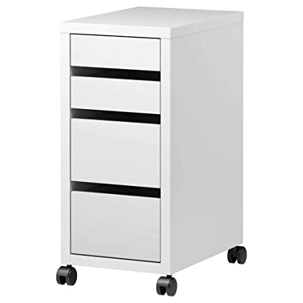 Cassettiere Ikea Ufficio.Ikea Micke Cassettiera Ufficio Con Rotelle Bianco 35x75 Cm