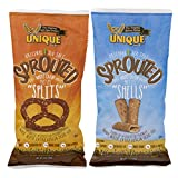 2-pack Variety Unique Pretzels: Whole Grain Sprouted Splits and Sprouted Puffs, 8 Oz. Bags [1 of Each]