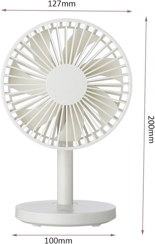 Fan with 7 Fan Mute Color : White Ultra-Quiet USB Fan Creative USB Mini Fan Bed Student Dormitory Desktop Office Fan Rechargeable Windy Family Travel Portable Fan Air Circulator
