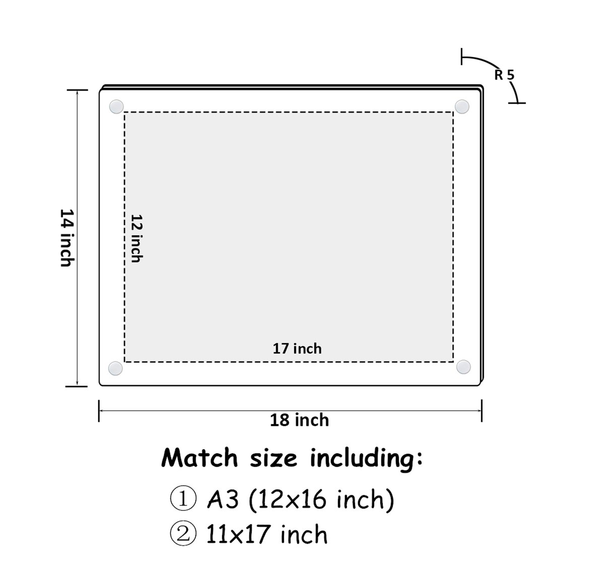 NIUBEE 12x16 and 11x17 Clear Acrylic Wall Mount Picture Frames, A3 ...