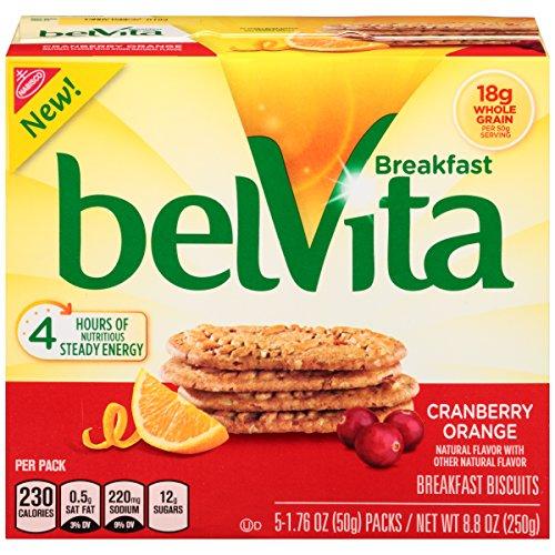 Nabisco Belvita Crunchy Cranberry Orange Breakfast Biscuits, 8.80 oz