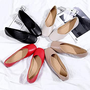 Owen Moll Women Flats Ballet Flats Butterfly-Knot Slip-On Single Shoes Red Black
