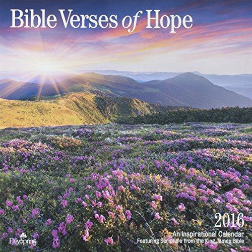 "DaySpring 12"" x 12"" 2016 12-Month Wall Calendar, Verses of Hope (73344)"