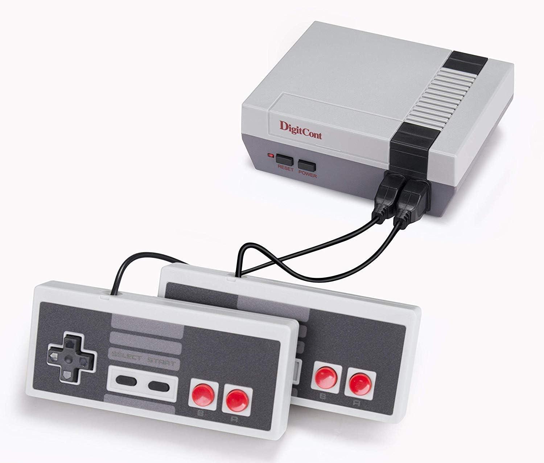 DigitCont Plug & Play Mini consola clásica, incorporada con 620 juegos retro clásicos Consola de modo de dos jugadores Consola de 2 jugadores Soporte de salida de TV Trae de vuelta la memoria infa