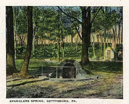 (Gettysburg, Pennsylvania - View of Spanglers Spring (16x24 SIGNED Print Master Giclee Print w/Certificate of Authenticity - Wall Decor Travel Poster))