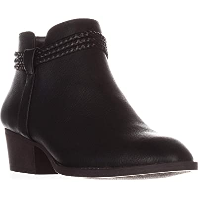 Style & Co. Womens Fellicity Faux Leather Ankle Booties | Shoes