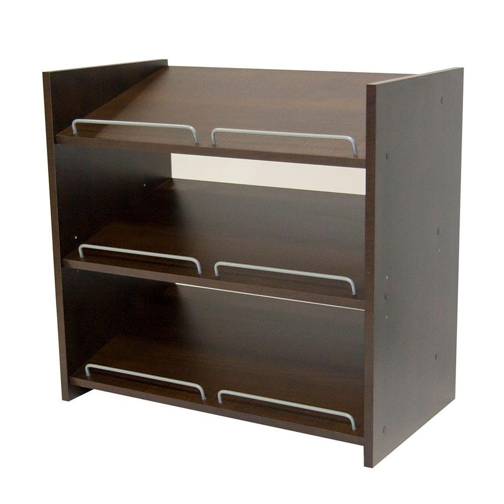 Martha Stewart Living Stackable Shoe Storage - 24 In. H X 25 In. W - Espresso (Espresso)