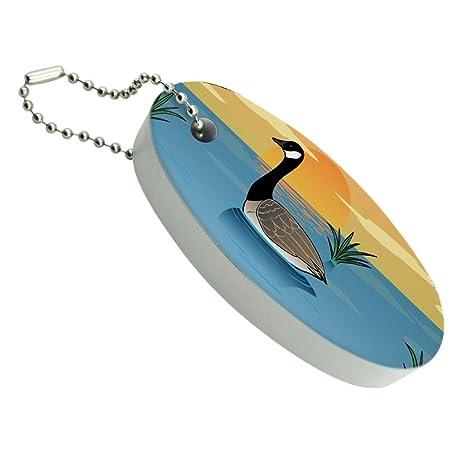 Ganso de Canadá gansos natación Canadá flotante de espuma ...