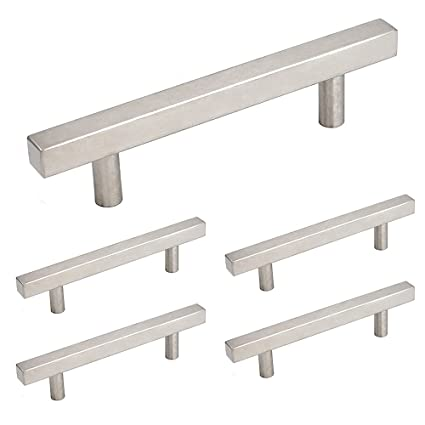 Merveilleux 3.5 Inch Cabinet Pulls Stainless Steel 5 Pack   Homdiy HDJ22SN Desk Drawer  Handles Brushed Nickel