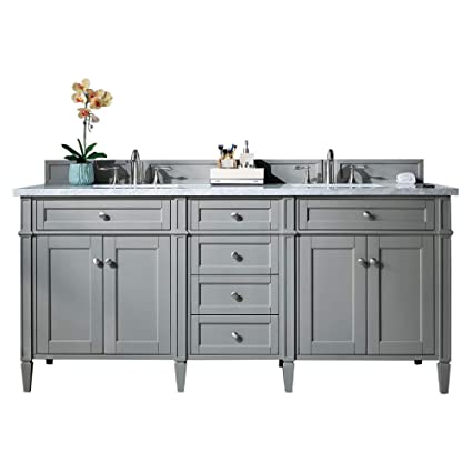 James Martin Brittany 72 Urban Gray Double Vanity With 3 Cm Shadow