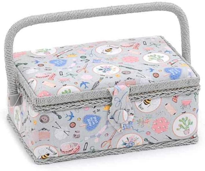 Hobby Gift This Sewing Box Store Your Threads 24 x 16 x 11 cm Needles and Other Accessories in a Convenient Multicoloured Compact Way