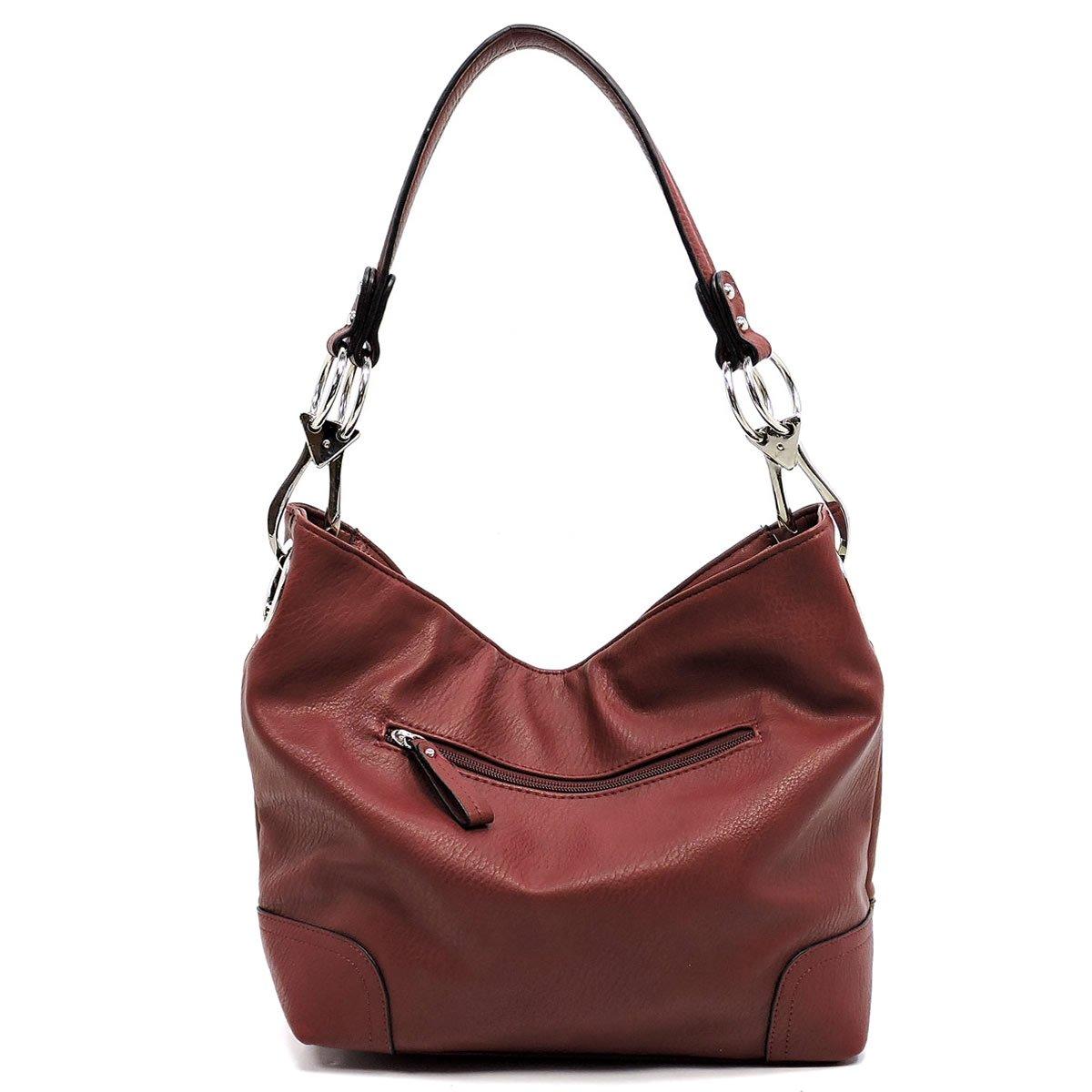 3fa4d3600e Elphis Fashion Classic Shoulder Bag Hobo Bucket Handbag Purse  (79-Burgundy)  Amazon.ca  Shoes   Handbags
