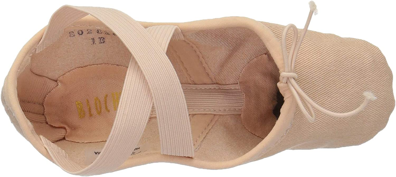 1 B US Little Kid Pink Bloch Girls Dance Zenith Split Sole Stretch Canvas Ballet Shoe//Slipper