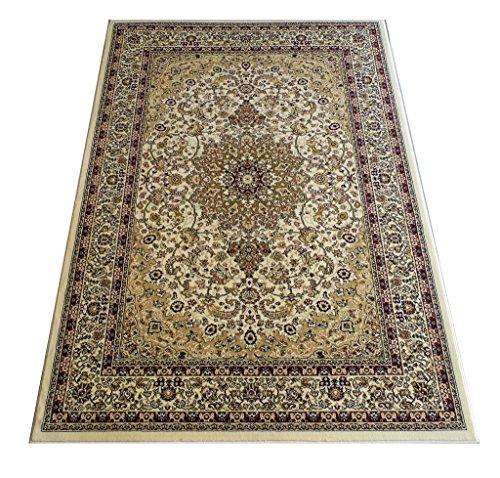 Elegance Traditional Area Rug Design 205 Ivory (8 Feet x 10 Feet 6 Inch)