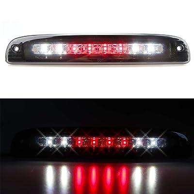 for 1997-2010 Dodge Dakota LED Bar 3rd Third Tail Brake Light Rear Cargo Lamp High Mount Stop light (Chrome Housing Smoke Lens): Automotive